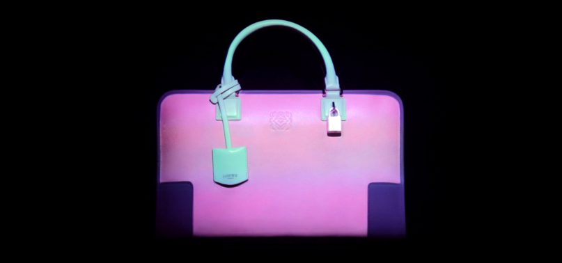 LOEWE bag with Mr.Beam projections
