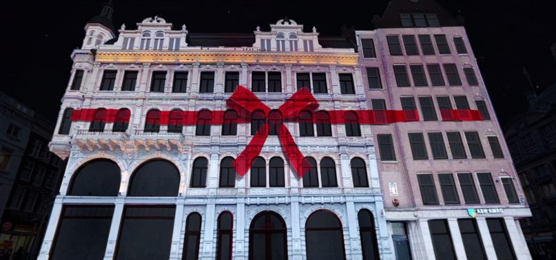 Projectionmapping design for H&M Amsterdam