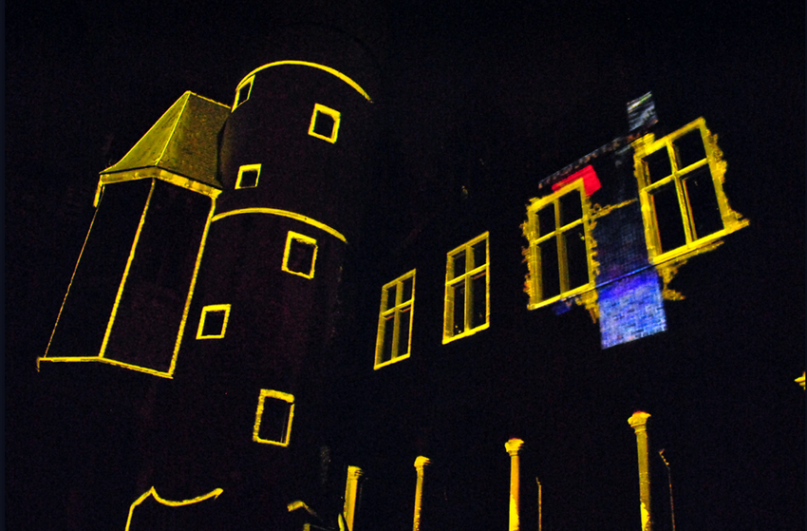 Projection mapping on buildings by Mr.Beam during Ghent Light Festival