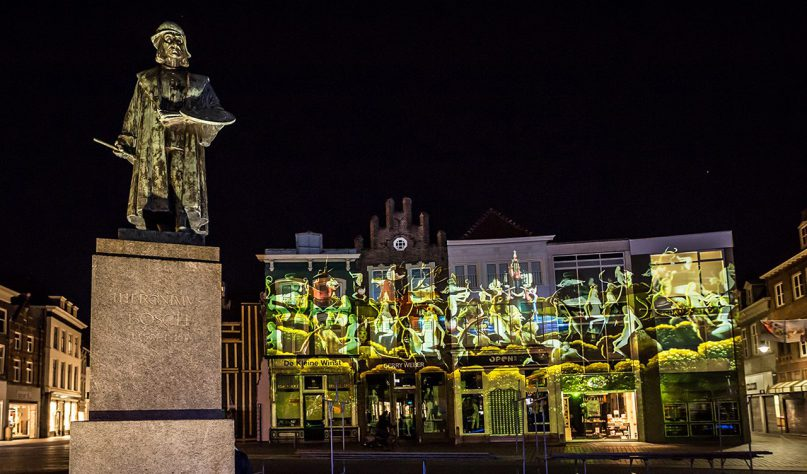 Photo of the Jeroen Bosch projection mapping show by Mr.Beam studio in Den Bosch.