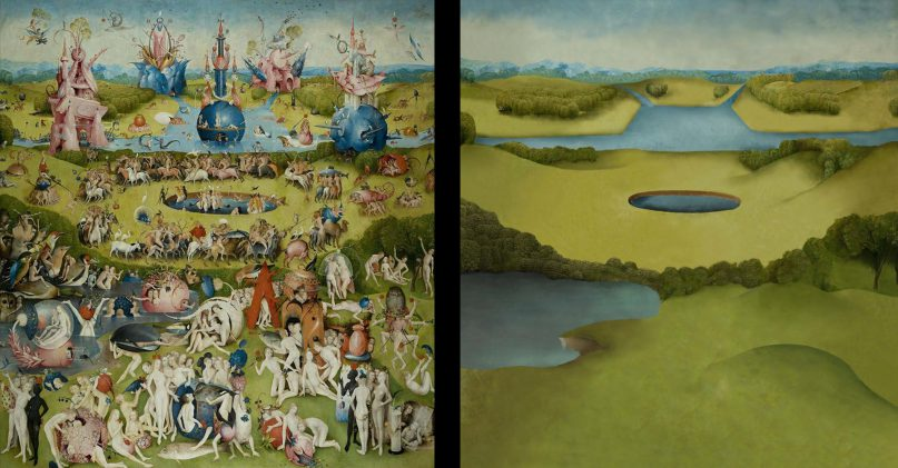 Detail of a painting by Jeroen Bosch