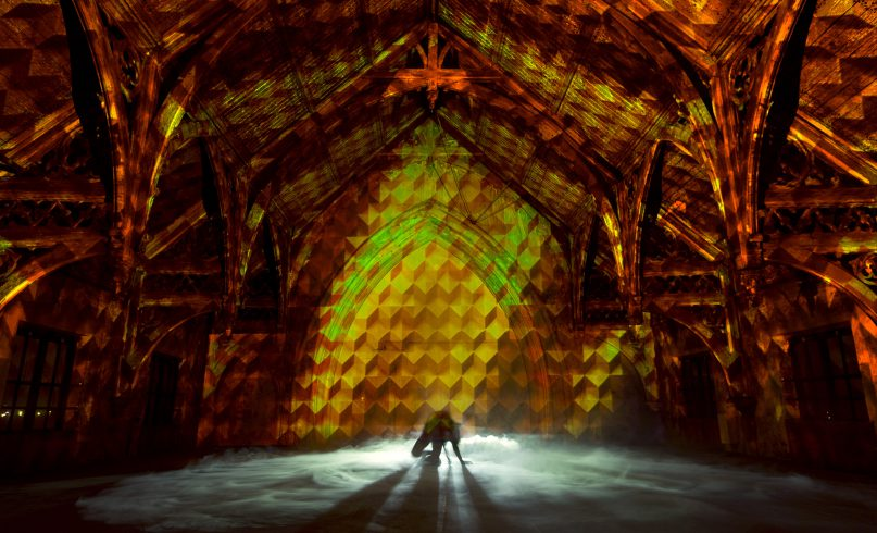 Projection mapping in at Metaalkathedraal Utrecht