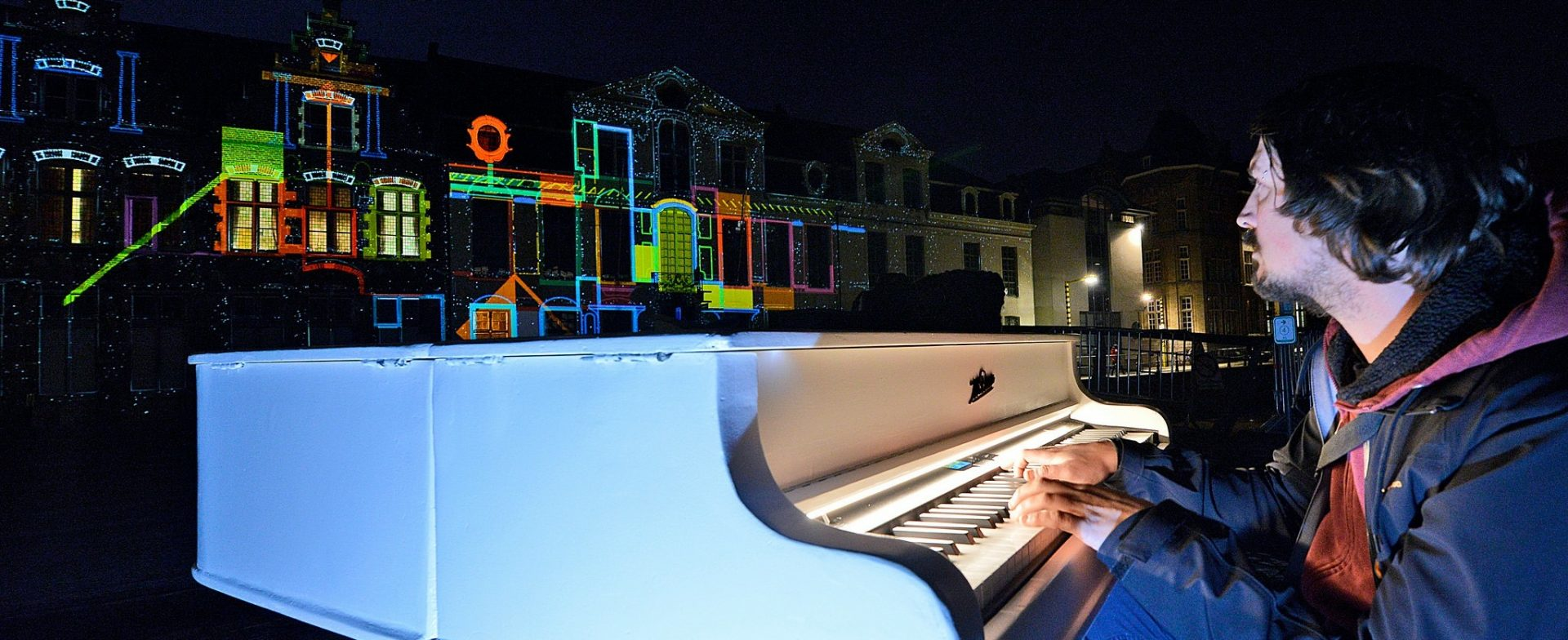 interactive projection mapping installation keys of light lichtfestival ghent