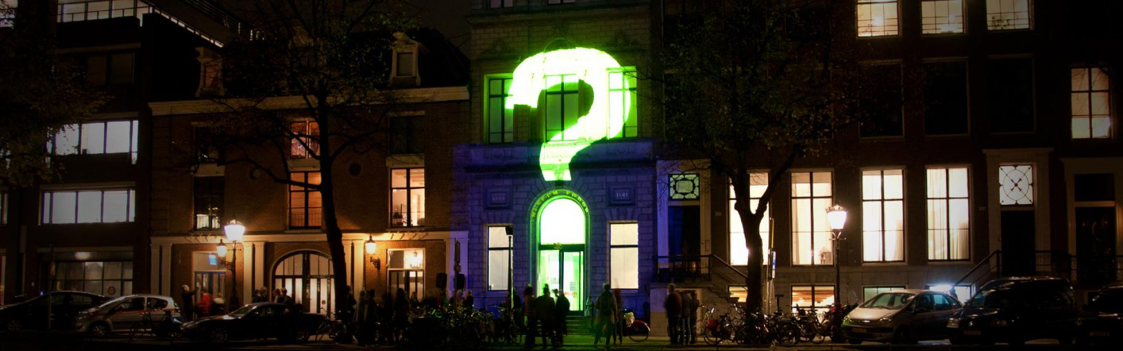 A still from the projection mapping show created by Mr.Beam studio for FOAM Amsterdam