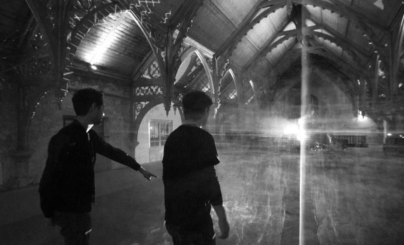 Behind the scene of the projection mapping artwork Morphosis