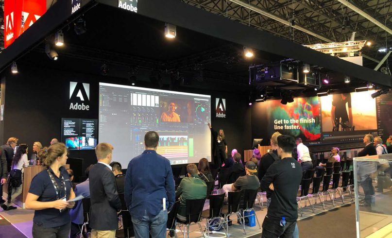 Adobe IBC stand 2019 technical production Mr.Beam