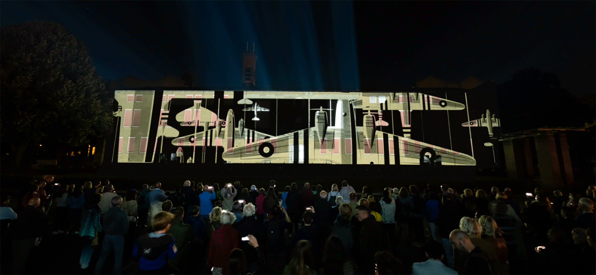projection mapping airborne