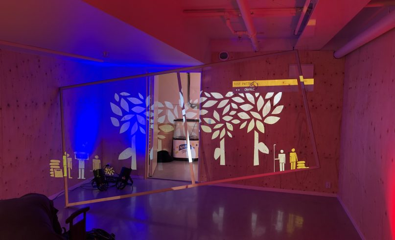 Projection mapping pop up store Tony's Chocolonely