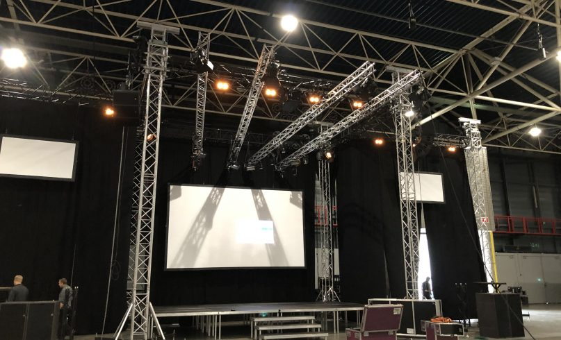 technical setup for first look festival 2019