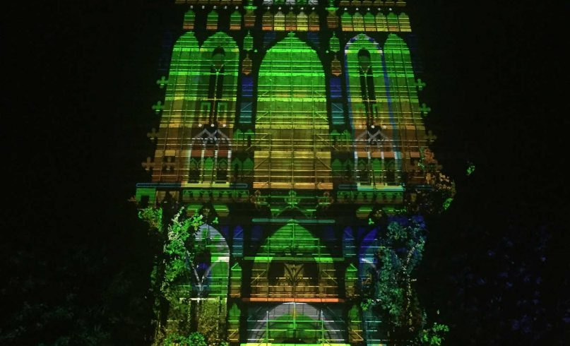 Projection mapping on Domtoren Utrecht