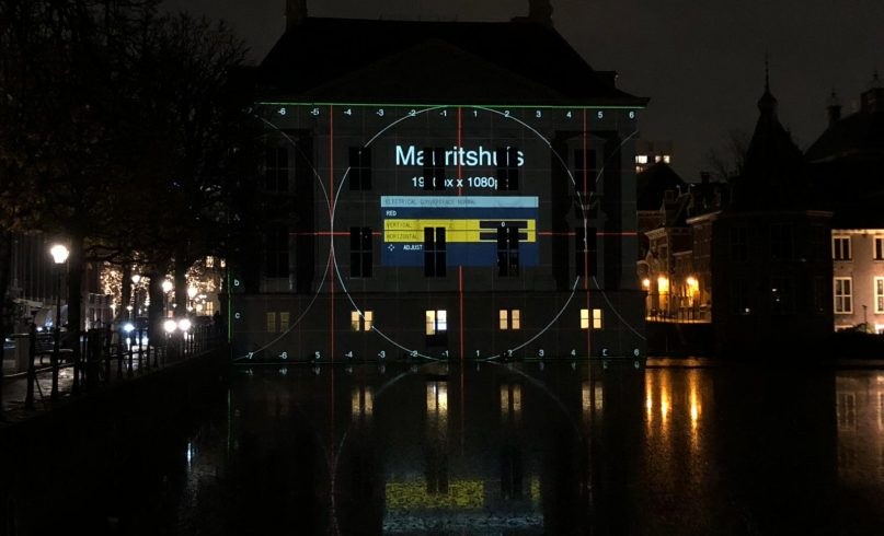 Projection mapping behind the scenes Mauritshuis
