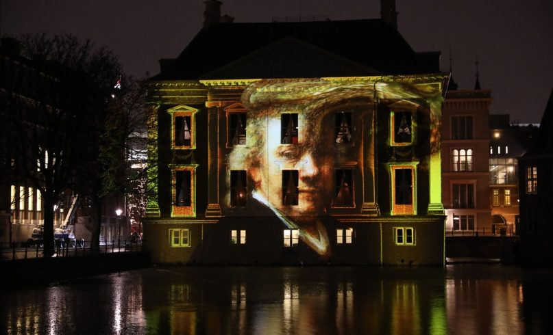 Interactive projection installation mauritshuis