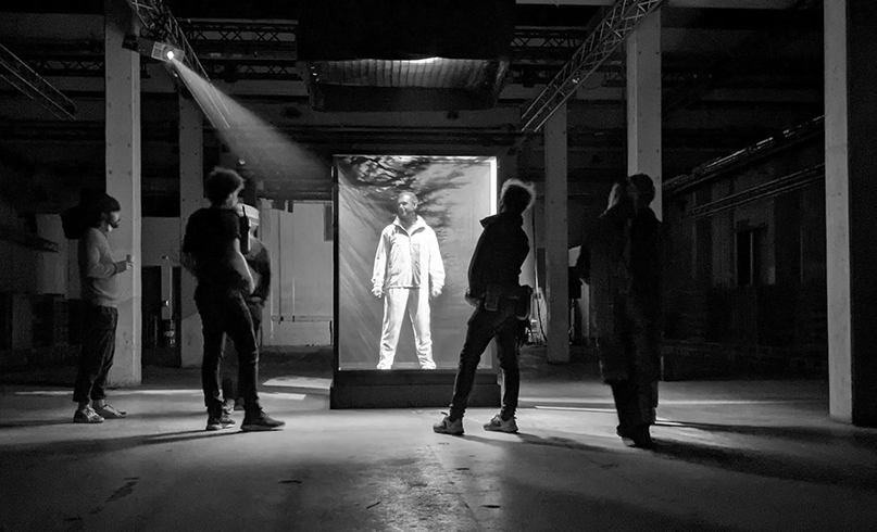 Armin van Buuren Inside the projection mapped cube for 'Feel Something'